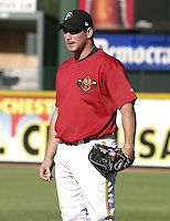 May 28, 2004:  Michael Restovich (41) of the Rochester Red Wings, Triple-A International League affiliate of the Minnesota Twins, during a game at Frontier Field in Rochester, NY.  Photo by:  Mike Janes/Four Seam Images