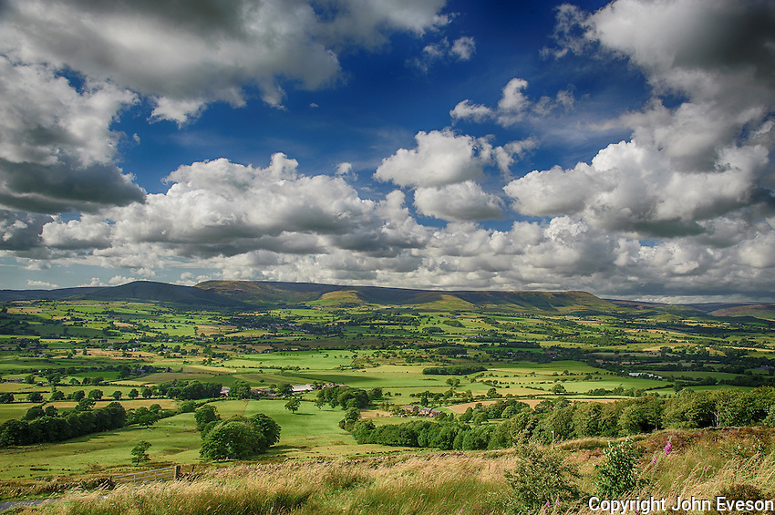 A view of the Loud Valley, Forest of Bowland, Lancashire.