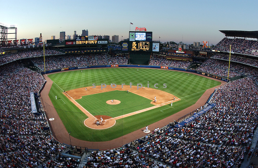 An overall view of Turner Field, during a game between the Atlanta Braves and the Florida Marlins, on June 6, 2003. (AP Photo/Chris Bernacchi)