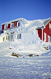 SWEDEN, Swedish Lapland, Bjorkliden,  Snow Covered Mountain Lodge