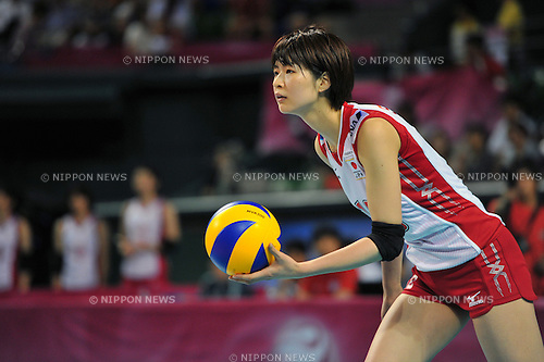 Saori Kimura (JPN),AUGUST 20, 2011 - Volleyball : 2011 FIVB World Grand Prix Pool L,match between Japan 3-0 Korea at Ariake Colosseum, Tokyo, Japan. (Photo by Jun Tsukida/AFLO SPORT) [0003]