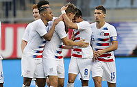 Chester, PA - Monday May 28, 2018: Walker Zimmerman scores and celebrates during an international friendly match between the men's national teams of the United States (USA) and Bolivia (BOL) at Talen Energy Stadium.