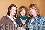 Liz Horgan (Listowel), Bernadette Hanrahan (Ballylongford) and Eileen O'Sullivan (Listowel) enjoying the Cheltenham Preview night in the Listowel Arms Hotel on Monday night. .   Copyright Kerry's Eye 2008