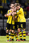Borussia Dortmund midfielder Christian Pulisic celebrating his score with his teammates during the match against Manchester City FC during the 2016 International Champions Cup China match at the Shenzhen Stadium on 28 July 2016 in Shenzhen, China. Photo by Victor Fraile / Power Sport Images