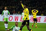 14.01.2018, Signal Iduna Park, Dortmund, GER, 1.FBL, Borussia Dortmund vs VfL Wolfsburg, <br /> <br /> im Bild | picture shows:<br /> Alexander Isak (Borussia Dortmund #14) reklamiert, <br /> <br /> Foto &copy; nordphoto / Rauch
