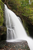 Sgwd Clun-Gwyn waterfall on Mellte river, Brecon Beacons national park, Wales
