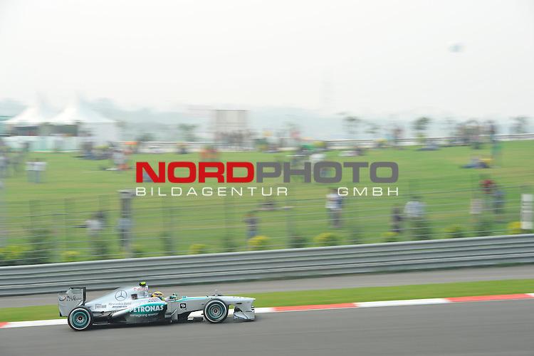 25.-27-10-2013, Jaypee-Circuit, Noida, IND, F1, Grosser Preis von Indien, Noida, im Bild Lewis Hamilton (GBR), Mercedes GP <br />  Foto &copy; nph / Mathis