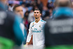 Cristiano Ronaldo of Real Madrid getting into the field during the La Liga 2017-18 match between Real Madrid and Sevilla FC at Santiago Bernabeu Stadium on 09 December 2017 in Madrid, Spain. Photo by Diego Souto / Power Sport Images