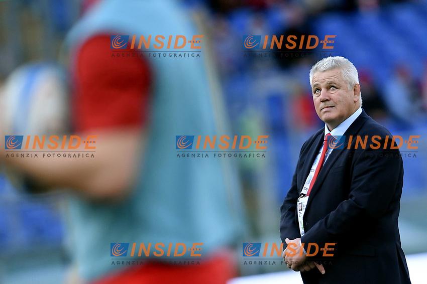 Warren Gatlandd, Wales coach.<br />  <br /> Roma 9-02-2019 Stadio Olimpico<br /> Rugby Six Nations tournament 2019  <br /> Italy - Wales <br /> Foto Antonietta Baldassarre / Insidefoto