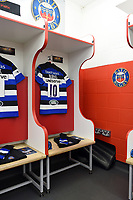 A general view of Freddie Burns' spot in the home changing rooms. Anglo-Welsh Cup Final, between Bath Rugby and Exeter Chiefs on March 30, 2018 at Kingsholm Stadium in Gloucester, England. Photo by: Patrick Khachfe / Onside Images
