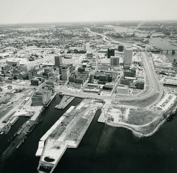 UNDATED..Redevelopment.Downtown West (A-1-6)..View of Freemason Harbor & Downtown...NEG#.NRHA#..