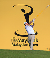 Paul McGinley (IRL) on the 12th tee during Round 3 of the Maybank Malaysian Open at the Kuala Lumpur Golf & Country Club on Saturday 7th February 2015.<br /> Picture:  Thos Caffrey / www.golffile.ie