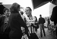 John Degenkolb (DEU/Giant-Shimano) and wife relaxing before the race<br /> <br /> Paris - Roubaux 2014