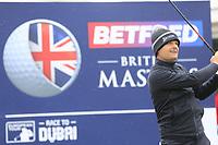 Soren Kjeldsen (DEN) during the Hero Pro-am at the Betfred British Masters, Hillside Golf Club, Lancashire, England. 08/05/2019.<br /> Picture Fran Caffrey / Golffile.ie<br /> <br /> All photo usage must carry mandatory copyright credit (© Golffile | Fran Caffrey)