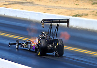 Jul. 26, 2014; Sonoma, CA, USA; NHRA top fuel driver Steve Chrisman during qualifying for the Sonoma Nationals at Sonoma Raceway. Mandatory Credit: Mark J. Rebilas-