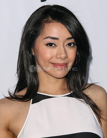 LOS ANGELES, CA - AUGUST 24: Aimee Garcia arrives at the 3rd Annual Los Angeles Food & Wine Festival on August 24, 2013 in Los Angeles, California. Credit: Collin/RTN/MediaPunch Inc.