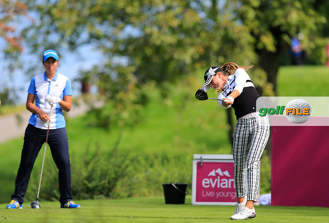 Klara Spilkova (CZE) tees off the 7th tee during Sunday's Final Round of the LPGA 2015 Evian Championship, held at the Evian Resort Golf Club, Evian les Bains, France. 13th September 2015.<br /> Picture Eoin Clarke | Golffile