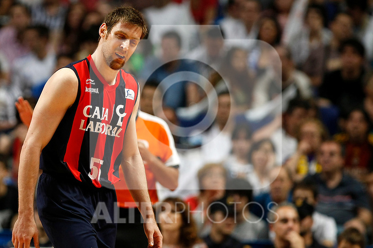 Caja Laboral´s Andres Nocioni dejected during La Liga ACB Playoffs semifinal last match, Madrid 2012/June/02..(ALTERPHOTOS/ARNEDO)