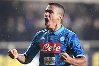Allan celebrates <br /> Bergamo 3-12-2018 Stadio Atleti Azzurri d'italia Football Calcio Serie A 2018/2019 Atalanta - Napoli Foto Matteo Gribaudi / Image Sport / Insidefoto