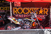 Rockstar box at Spanish Motocross Championship at Albaida circuit (Spain), 22-23 February 2014