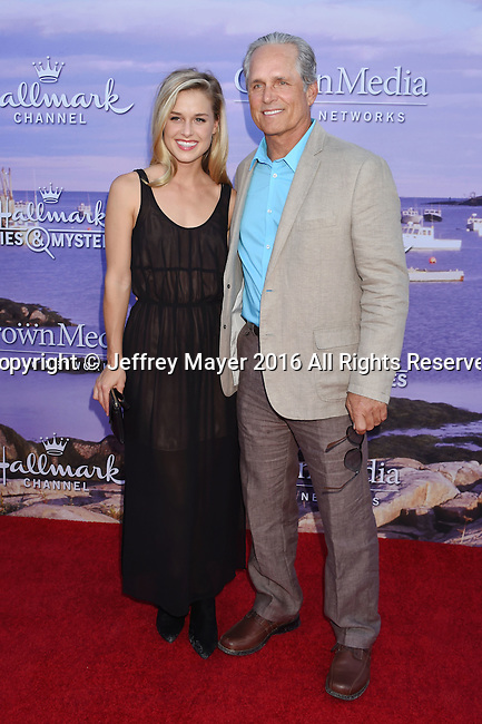 BEVERLY HILLS, CA - JULY 27: Actor Gregory Harrison (R) and daughter Lily Harrison attend the Hallmark Channel and Hallmark Movies and Mysteries Summer 2016 TCA press tour event at a private residence on July 27, 2016 in Beverly Hills, California.