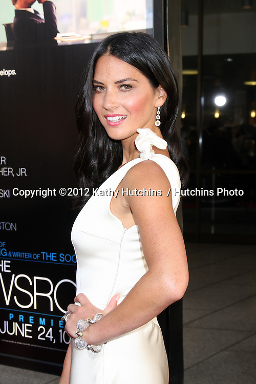 """LOS ANGELES - JUN 20:  Olivia Munn arrives at HBO's """"The Newsroom"""" Los Angeles Premiere at Cinerama Dome Theater on June 20, 2012 in Los Angeles, CA"""