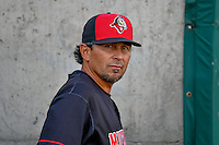 Billings Mustangs manager Ray Martinez (22) before the game against the Orem Owlz in Pioneer League action at Home of the Owlz on July 25, 2016 in Orem, Utah. Orem defeated Billings 6-5. (Stephen Smith/Four Seam Images)