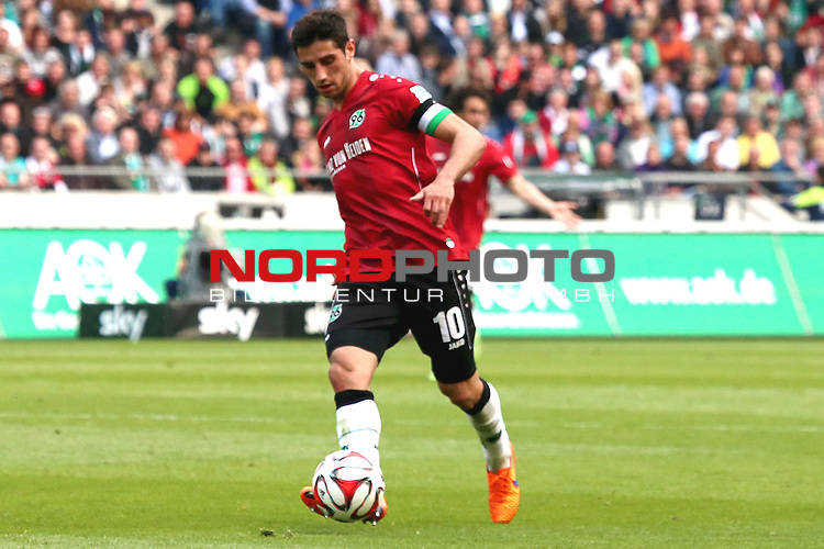 09.05.2015, HDI Arena, Hannover, GER, 1.FBL, Hannover 96 vs SV Werder Bremen im Bild <br /> <br /> Lars Stindl (Hannover 96)<br /> <br /> Foto &copy; nordphoto / Rust