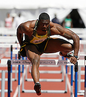 David Oliver won the 110m hurdles in a time of 13.33sec. at the 2008 Walt Disney World Invitational @ Lake Buena Vista,Fl. Photo by Errol Anderson, The Sporting Image.
