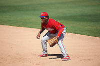 Philadelphia Phillies Luis Encarnacion (18) during an Instructional League game against the New York Yankees on September 27, 2016 at Bright House Field in Clearwater, Florida.  (Mike Janes/Four Seam Images)