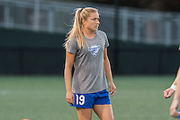 Allston, MA - Saturday Sept. 24, 2016: Kristie Mewis prior to a regular season National Women's Soccer League (NWSL) match between the Boston Breakers and the Western New York Flash at Jordan Field.