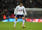 9th December 2017, Wembley Stadium, London England; EPL Premier League football, Tottenham Hotspur versus Stoke City; Erik Lamela of Tottenham Hotspur on the ball