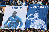 Large banners of Chelsea's Eddie Newton and Joe Cole are unveiled moments ahead of kick-off during Chelsea vs Sheffield United, Premier League Football at Stamford Bridge on 31st August 2019
