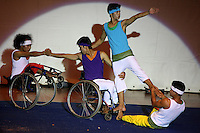 Cambodia Youth Arts Festival. Epic arts association performing contemporary dance with blind dancers, wheelchairs and crutches. Phnom Penh, Cambodia-2010