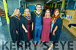 Vicky Phelan guest speaker at the Nurses Unit in the Sólás Building in the I T Tralee on Friday after their graduation. <br /> Marie Cleverley (Barraduff), Marie Noonan, Donal O'Grady, Vicky Phelan and Louise McGuillycuddy (Glenbeigh).