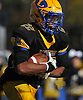 Chris Collier #22 of Lawrence rushes for a gain during the Nassau County Conference III varsity football semifinals against Bethpage at Hofstra University on Saturday, Nov. 11, 2017. His 195 yards on the ground in the first half included touchdown runs of 90 and 64 yards.