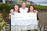 FUNDS: Anne Marie Keane, Martin Collins and Edel Keane who raised over EUR2,600 for the Irish Motor Neurone Disease Association at a Valentine's auction in Knocknagree.