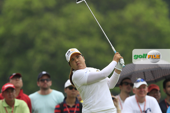 Inbee Park (KOR) on the 17th tee during Round 4 of the HSBC Women's Champions at the Sentosa Golf Club, The Serapong Course in Singapore on Sunday 8th March 2015.<br /> Picture:  Thos Caffrey / www.golffile.ie