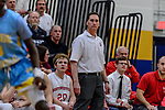 WATERBURY, CT. 14 March 2018-031418BS667 - Northwestern Head coach Doug Sebach looks on from the sidelines during the Div IV semi-finals at Kennedy High School on Wednesday evening. Kolbe went on to defeat Northwestern and advanced to the finals at Mohegan Sun. Bill Shettle Republican-American