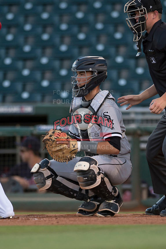 AZL White Sox catcher Ty Greene (26) during an Arizona League game against the AZL Indians 1 at Goodyear Ballpark on June 20, 2018 in Goodyear, Arizona. AZL Indians 1 defeated AZL White Sox 8-7. (Zachary Lucy/Four Seam Images)