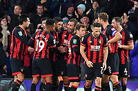 Steve Cook of AFC Bournemouth middle celebrates after scoring during AFC Bournemouth vs Norwich City, Caraboa Cup Football at the Vitality Stadium on 30th October 2018