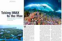 Documetary Magazine Tearsheet, with one of my underwater photos from beneath the Arctic ice, taken during a six week filming expedition for the upcoming IMAX film   TO THE ARCTIC 3D  by MacGillivray Freeman Films.