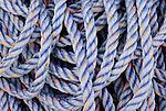 Braided nylon rope in pile
