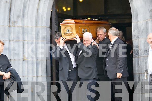 The funeral of Cian O'Donoghue who worked for the O'Donoghue Hotel Group who was buried on Tuesday his remains were carried from St Marys Church, Killarney (Cathedral) than to Ahadoe Graveyard,Killarney, also the Staff of the O'Donoghue Hotel Group held a gaurd of honour.