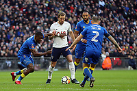 Harry Kane of Tottenham  takes on AFC Wimbledon during Tottenham Hotspur vs AFC Wimbledon, Emirates FA Cup Football at Wembley Stadium on 7th January 2018
