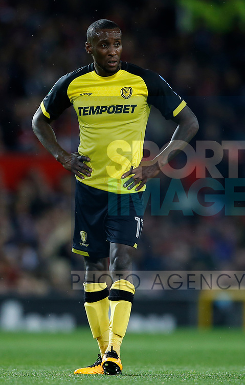 Lloyd Dyer of Burton Albion during the Carabao Cup Third Round match at the Old Trafford Stadium, Manchester. Picture date 20th September 2017. Picture credit should read: Simon Bellis/Sportimage