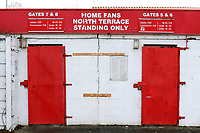 The North Terrace turnstiles during Stevenage vs Reading, Emirates FA Cup Football at the Lamex Stadium on 6th January 2018