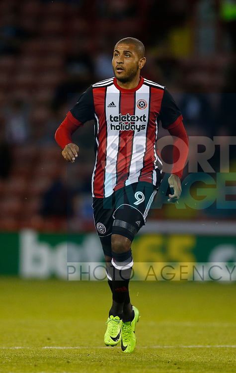 Leon Clarke of Sheffield Utd during the pre season friendly at Bramall Lane Stadium, Sheffield. Picture date: July 25th 2017. Picture credit should read: Simon Bellis/Sportimage
