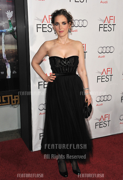 """Winona Ryder at the Los Angeles premiere of her new movie """"Black Swan"""", the closing film of the 2010 AFI Fest, at Grauman's Chinese Theatre, Hollywood..November 11, 2010  Los Angeles, CA.Picture: Paul Smith / Featureflash"""