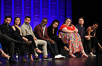 """HOLLYWOOD, CA - MARCH 24: Actors Milo Ventimiglia, Mandy Moore, Jon Huertas, Sterling K. Brown, Susan Kelechi Watson, Chrissy Metz, Justin Hartley, and Melanie Liburd attend PaleyFest 2019 for 20th Century Fox Television's """"This is Us"""" at the Dolby Theatre on March 24, 2019 in Hollywood, California. (Photo by Frank Micelotta/20th Century Fox Television/PictureGroup)"""